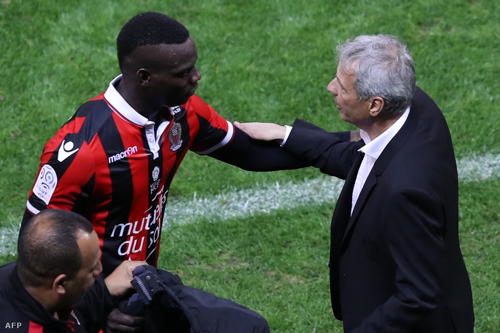 Mario Balotelli és Lucien Favre