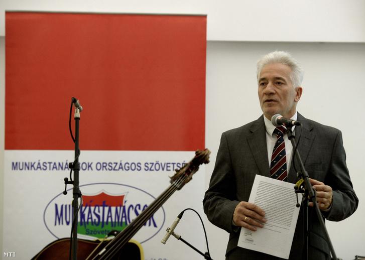 Palkovics Imre a Munkástanácsok Országos Szövetsége (MOSZ) elnöke