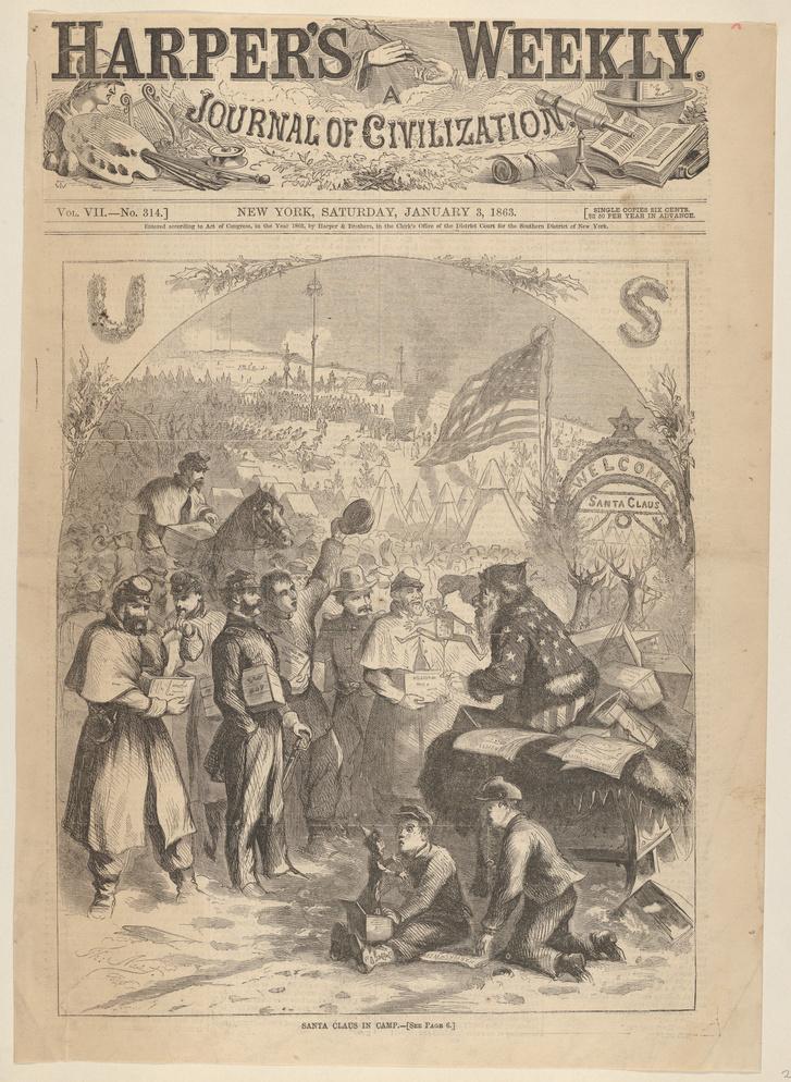 Santa Claus in Camp (from Harper's Weekly) MET DP831805