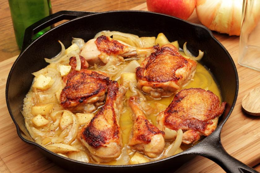 Ciderben pácolt csirkecomb recept