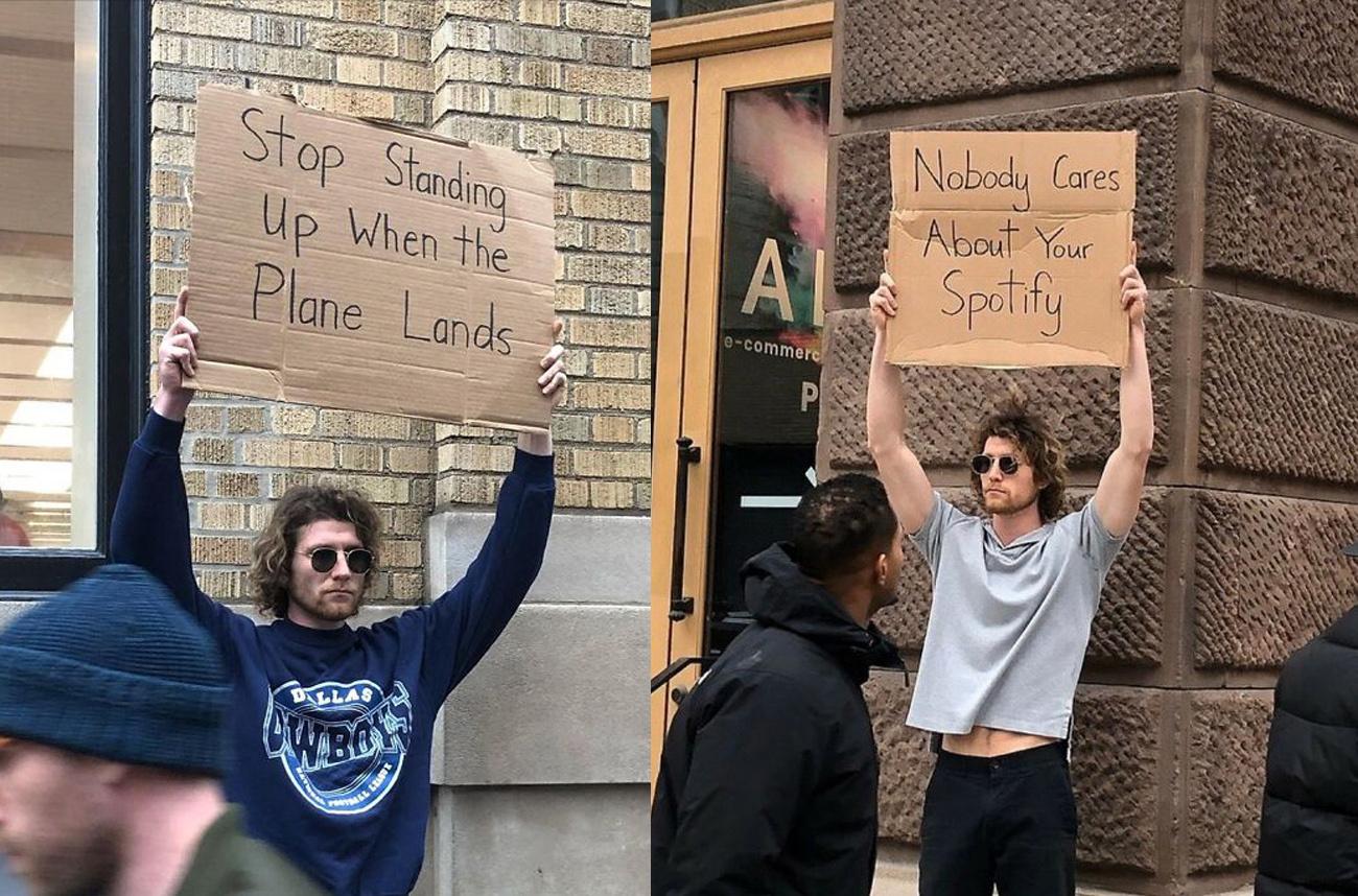 tüntető cover