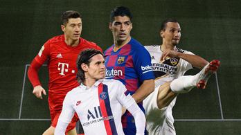 Van Messi meg Ronaldo, de ki van a nyomukban?