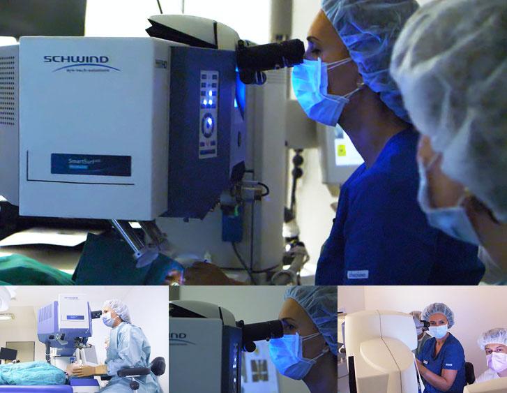 Dr. Molnár Szilvia, a Sasszemklinika refraktív sebésze műtét közben