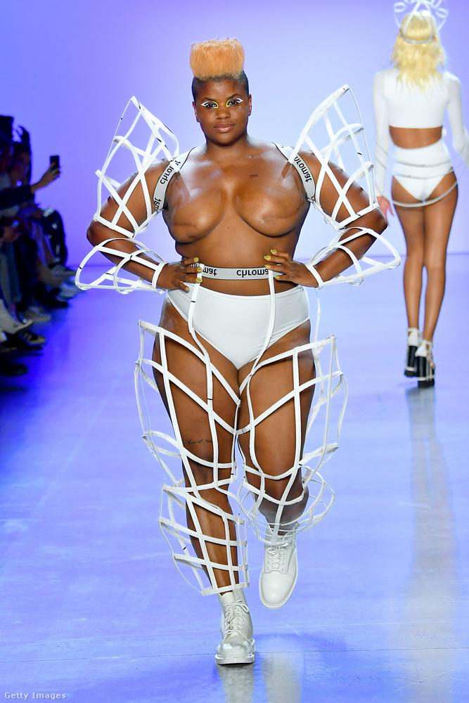 A Chromat nevű márka szintén felvállalta, hogy őnáluk nemcsak a szó régi értelmében vett modellalkatú nők lehetnek modellek