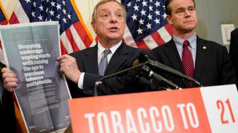 21 évre tolnák ki a cigivásárlás korhatárát az USA-ban