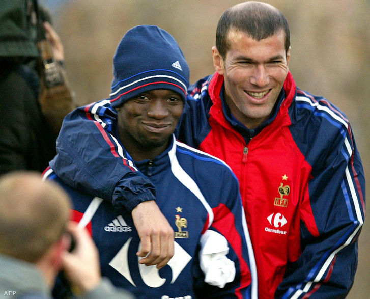 Zinedine Zidane és Claude Makelele 2004-ben
