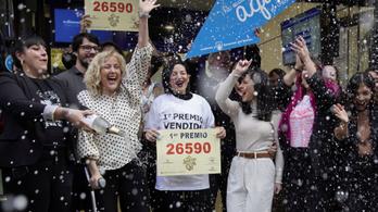 787 milliárd forintnyi összeget sorsoltak ki a spanyol lottón