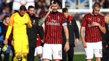 Huszonegy éve kapott utoljára ekkora verést az AC Milan