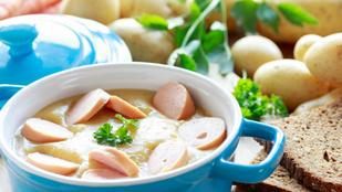 A virsli a leveseknek is jól áll: tejszínes burgonyaleves grillezett virslivel