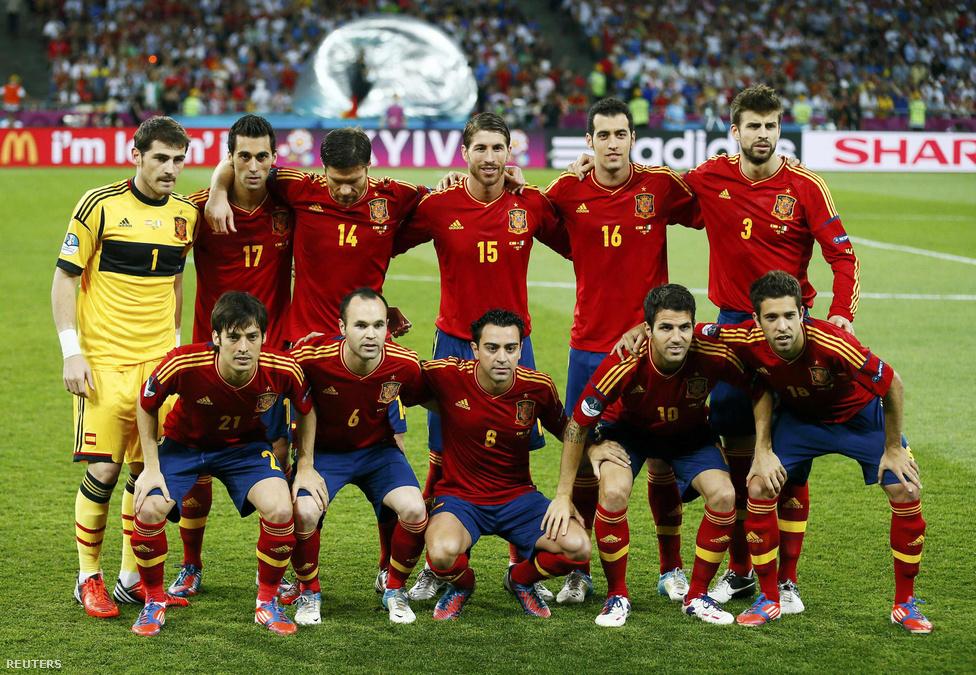 Csapatfotó készül - spanyolok