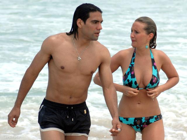 Radamel Falcao és barátnője csöpögnek