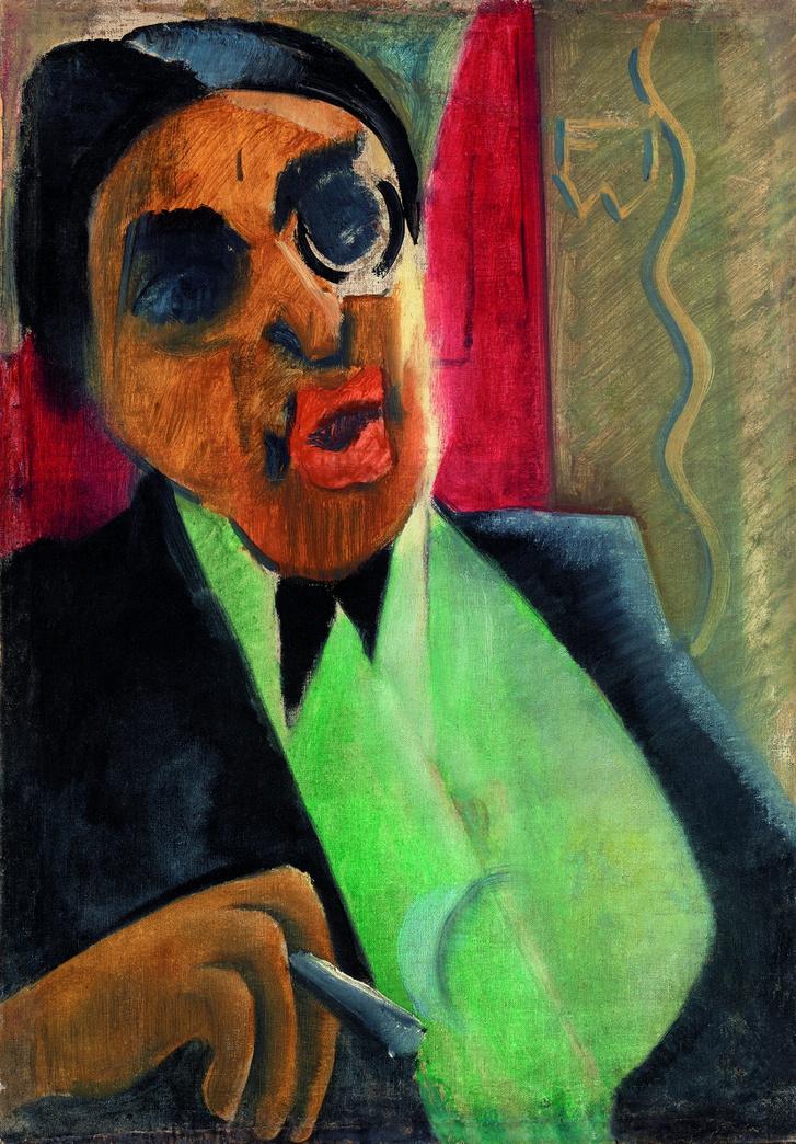 Szomory Dezső arcképe, 1921                         olaj, vászon, 54 x 37 cm