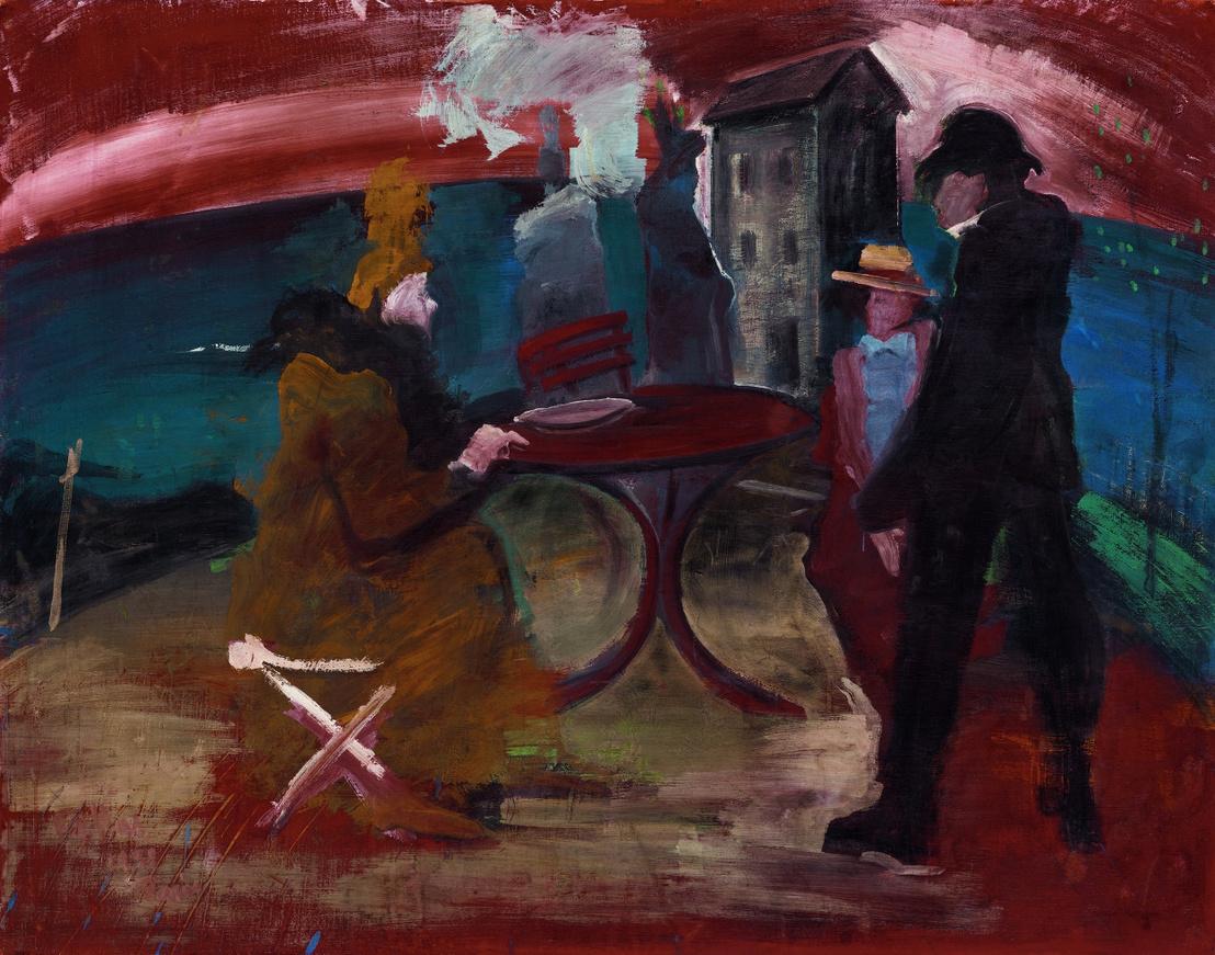 Vörös asztal, 1931                         fa, tempera, 115 × 145 cm