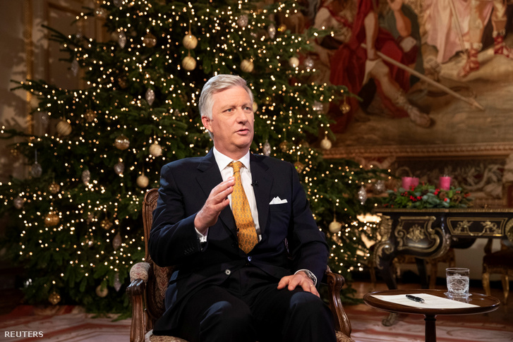 Fülöp belga király tévés karácsonyi köszöntője