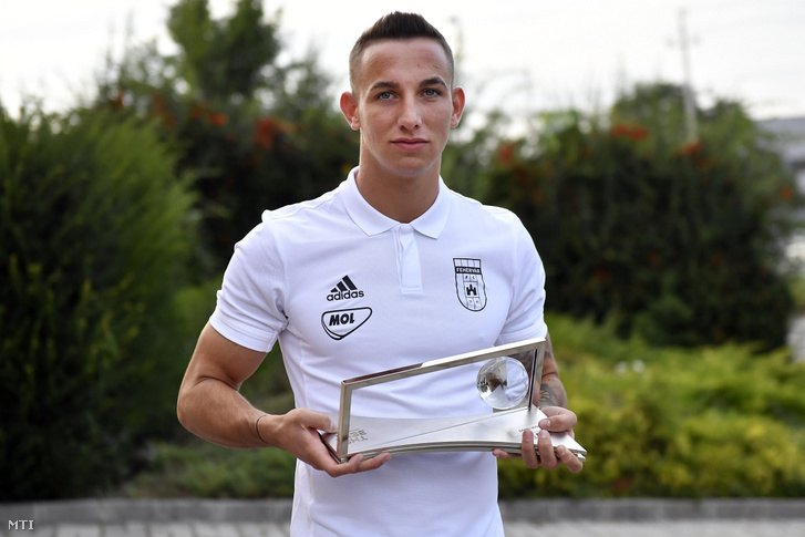 Zsóri Dániel az év legszebb góljáért járó idén tizenegyedszer átadott Puskás Ferenc-díjjal