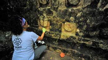 A széltől és a napsütéstől féltik a Mexikóban feltárt maja palotát