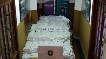 Egymilliárd dollár értékű kokaint fogtak Montevideóban