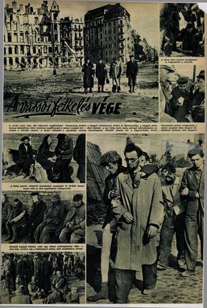 """""""A varsói felkelés vége"""". Képes Vasárnap, 1944. 10. 31."""