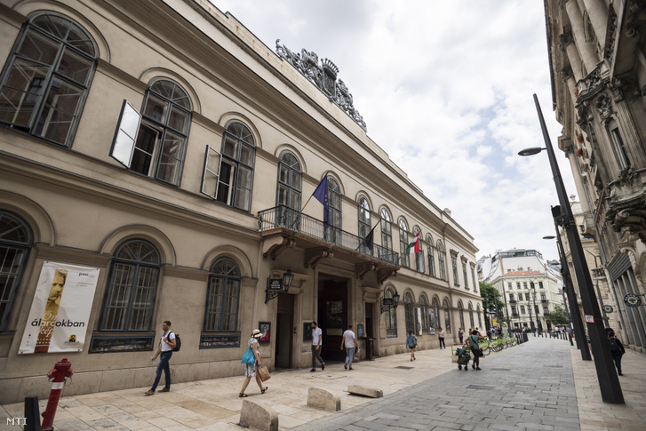 A Petőfi Irodalmi Múzeum (PIM) az V. kerületi Károlyi utcában 2019. június 6-án.