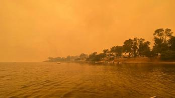 Apokaliptikus, narancssárga köd borítja Új-Zéland déli részét
