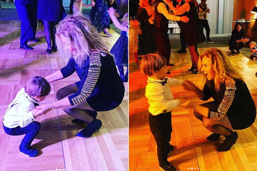 Liptai Claudia kisfia, Marci a táncparkett ördöge volt a szilveszteri ünnepségen.