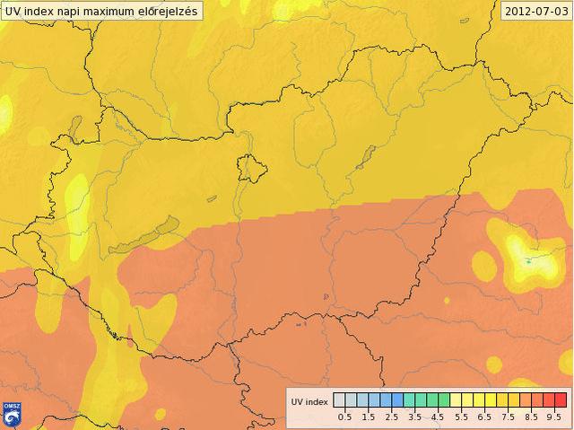 uv térkép magyarország Index   Tudomány   UV B sugárzás: bőrrák és helyszínelés uv térkép magyarország