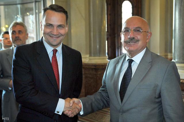 Radoslaw Sikorski lengyel és Martonyi János magyar külügyminiszter