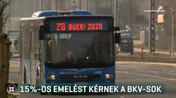 15 százalékos emelést kérnek a BKV-sok 2020-ra