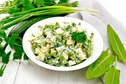 majonézes burgonyasaláta sóskával