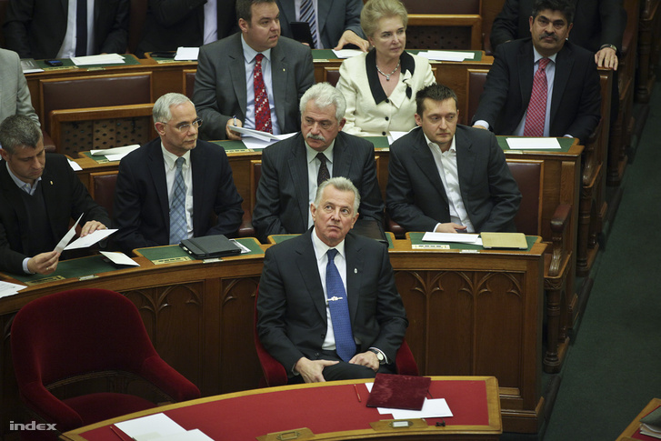 President Pál Schmitt in the Parliament on 3 April 2012.