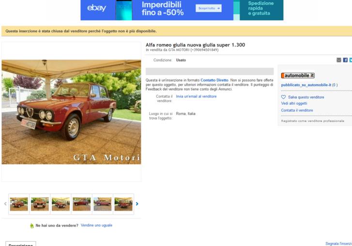 Az első Giulia, amin elkezdtem gondolkozni. Persze 8000 euróért nem sokat volt kint a piacon, hiába Róma