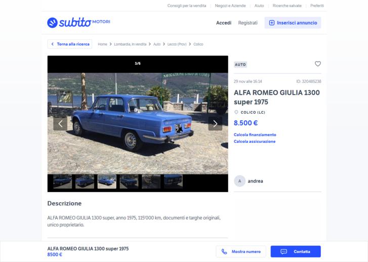 De miért árulja az első tulaj Como mellett a szicíliai rendszámos autóját? Elköltözött volna, amikor megszedte magát délen? Ritkán történik...