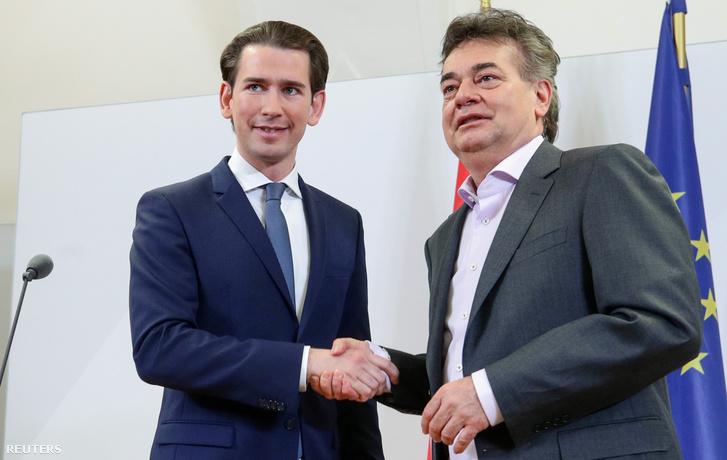 Sebastian Kurz és Werner Kogler 2020. január 4-én