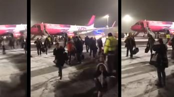 Nem volt tűz a Wizz Air Debrecenben kiürített gépén