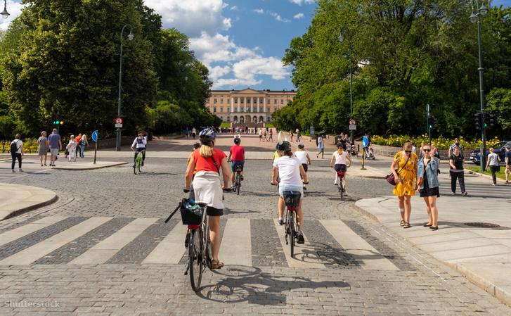 Kerékpárosok Osloban