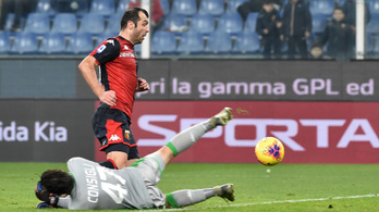 Kevés nevetségesebb gól lesz az évben, mint a Genoa csatáráé
