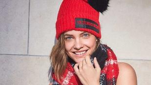 Palvin Barbara legdögösebb téli szettje csak sapkából és sálból áll