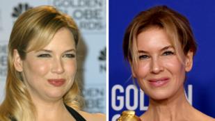 Ennyit változott Renée Zellweger és Brad Pitt a két Golden Globe-juk elnyerése között