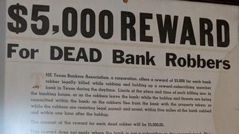 Lőj le egy bankrablót, kapsz 5000 dollárt