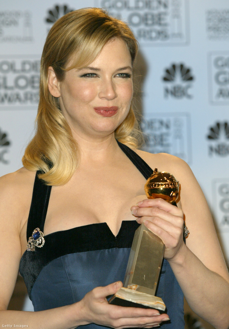Íme Renée Zellweger 2004-ben, amikor a Hideghegy c. filmével érdemelte ki a legjobb női mellékszereplőnek járó díjat.