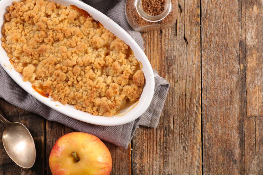 almás körtés morzsasüti recept