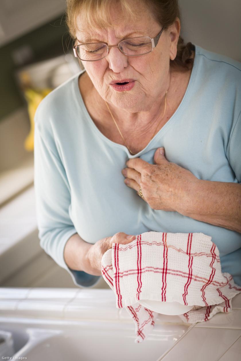 egészség szívroham idős nő hideg idő