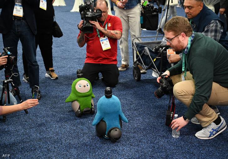 Lovot robot a CES 2020 kiállításon Las Vegasban