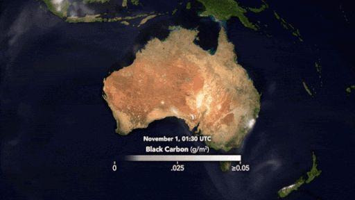 Műhold- és földi adatokat egyesítő animáció a föst terjedéséről