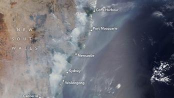 Az ausztrál bozóttüzek kiterjedése az űrből is felfoghatatlan
