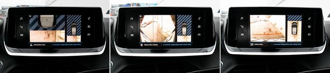 A tolatókamera nagyon hasznos a Peugeot-ban: egyébként mindhárom kocsiból kifejezetten rossz a hátralátás