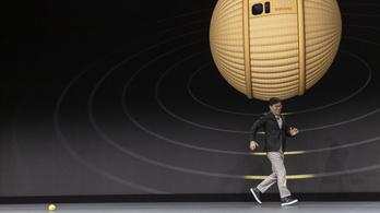 Folyton láb alatt lesz a Samsung cuki robotlabdája