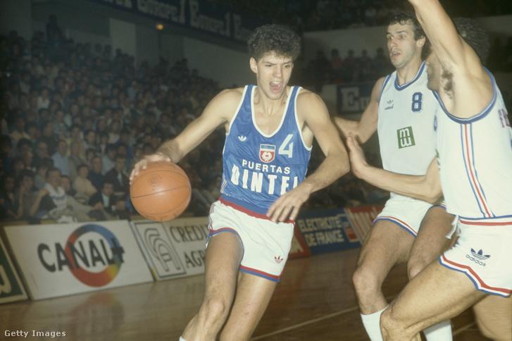 Dražen Petrović a Jugoszlávia - Franciaország 1986-os mérkőzésen