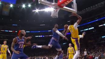 Ijesztően nagy hátast dobott az NBA-játékos