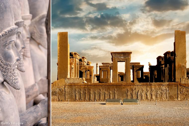 Perszepolisz − A Siráztól 65 km-re található romváros Irán egyik különleges ékessége, ami egykor a perzsák szakrális fővárosa, az újévi ünnepségek színhelye volt